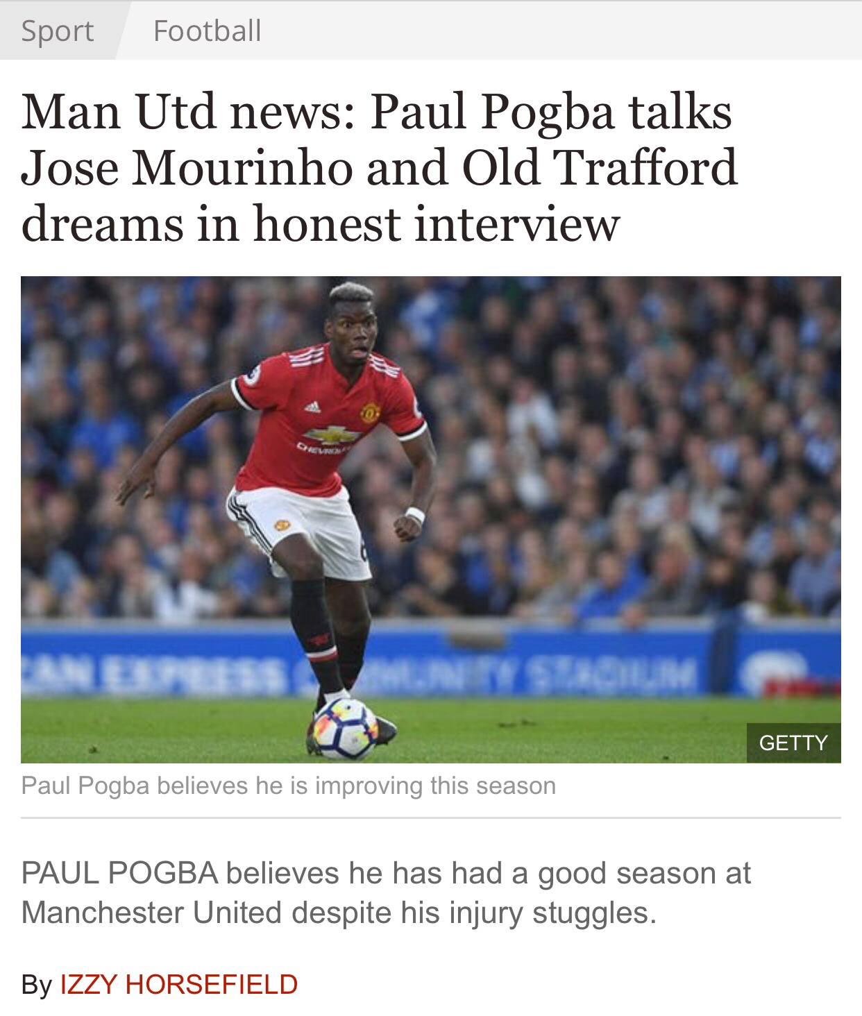 Paul Pogba interview