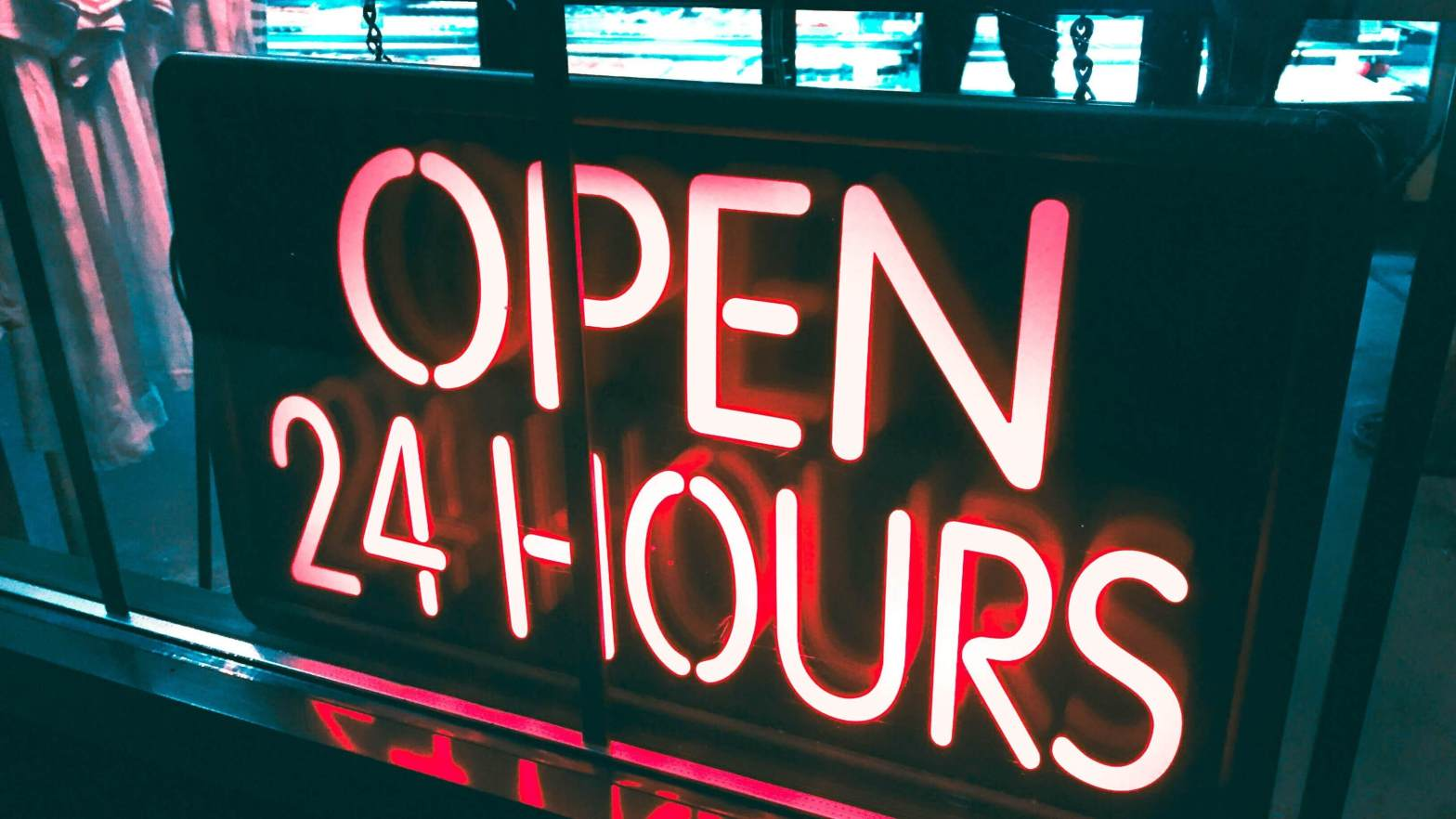 Open 24 Hours Sign - morethanSEO